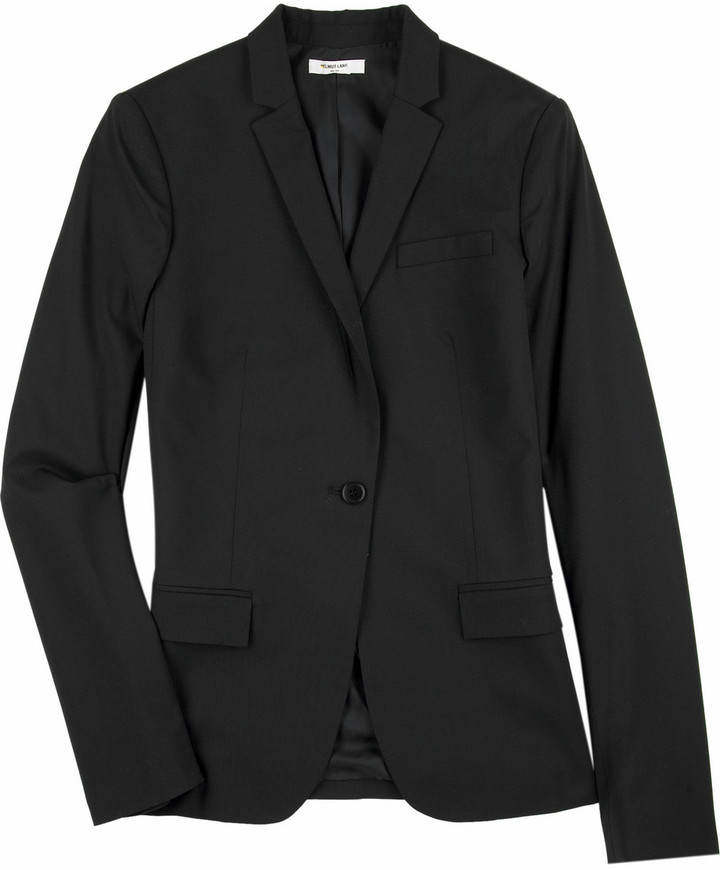 Helmut lang Single-breasted wool blazer