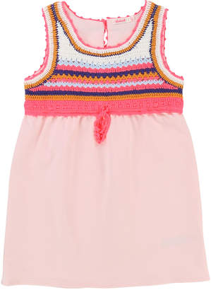 Billieblush Jersey Dress w/ Crochet Yoke, Size 4-8