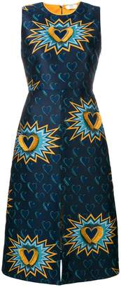 Fendi embroidered fitted dress