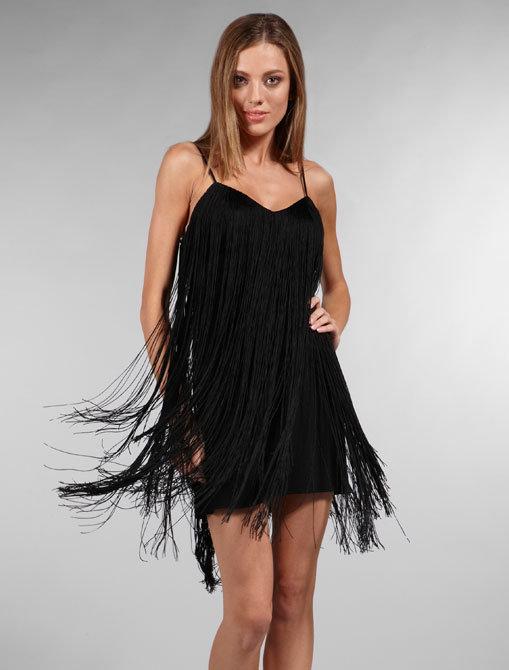 Jay Godfrey Toni Cami Fringe Dress