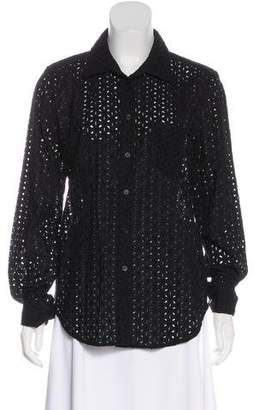 Equipment Eyelet Lace Top