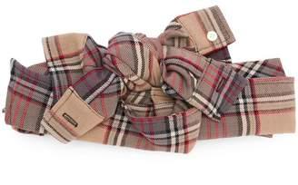 CA4LA tartan bow headband