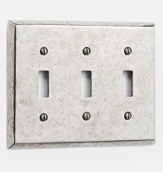 Rejuvenation Pewter Lewis Triple Toggle Switchplate