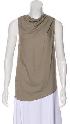 Helmut Lang Ruche-Accented Sleeveless Top