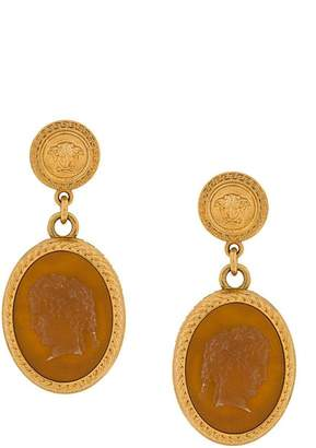 Versace cameo earrings