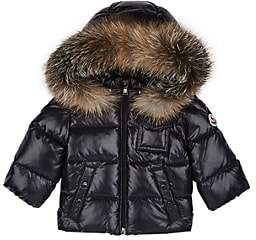 Moncler Infants' K2 Fur-Trimmed Down-Quilted Hood-Navy