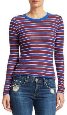 Rag & Bone Avery Striped Cashmere-Blend Shirt