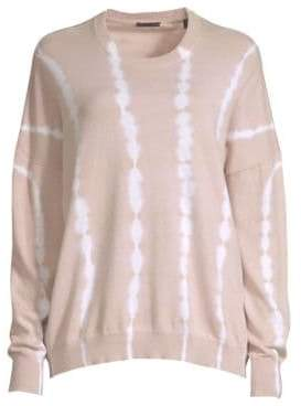ATM Anthony Thomas Melillo Tie Dye Cashmere Blend Pullover