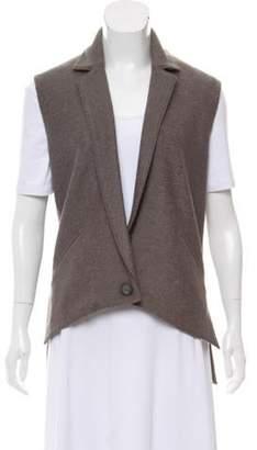 Doo.Ri Notched Lapel Oversize Vest Grey Notched Lapel Oversize Vest