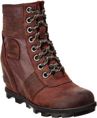 Sorel Joan Ii Leather Wedge Bootie