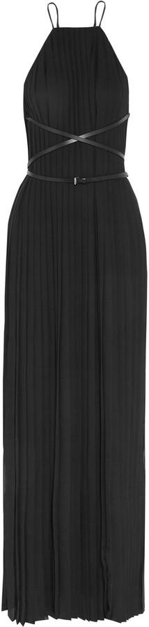 MICHAEL Michael KorsMichael Kors Collection Belted plissé-chiffon gown