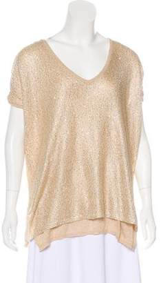Minnie Rose Sequin Short Sleeve Top w/ Tags