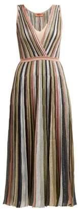 Missoni Metallic Stripe Knitted Midi Dress - Womens - Multi