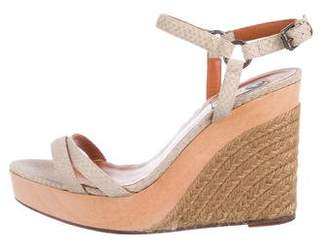 Lanvin Embossed Espadrille Wedges