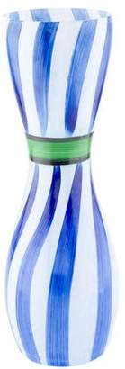 Kosta Boda Hand-Painted Glass Ribbon Vase