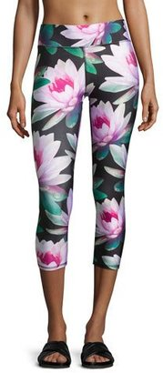 Terez Loving Lotus Tall Band Capri Leggings, Multipattern $80 thestylecure.com