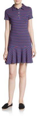 Striped Knit Polo Dress $88 thestylecure.com
