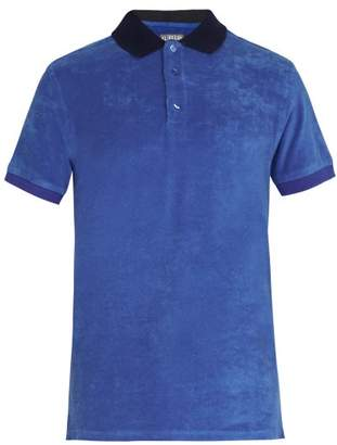 Vilebrequin Pacific Cotton Blend Terry Polo Shirt - Mens - Blue Multi