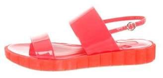 Salvatore Ferragamo Patent Leather Ankle Strap Sandals
