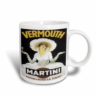 3dRose Vintage Martini Martini and Rossi Advertising Poster, Ceramic Mug, 15-ounce