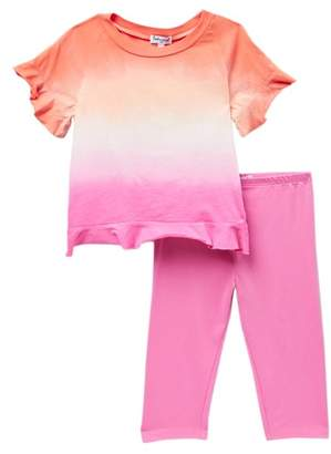 Splendid Dip Dye Top & Leggings Set (Toddler Girls)