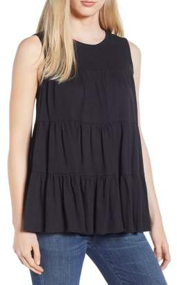Blend of America Everleigh Tiered Ruffle Cotton Tank Top