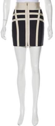 Herve Leger Bondage Mini Skirt