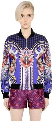 Mary Katrantzou Printed Cotton Poplin Bomber Jacket