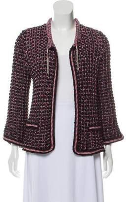 Chanel Open-Knit Tweed Jacket