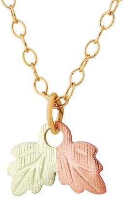 Black Hills Leaf Pendant w/ Chain, 10K/12K Gold