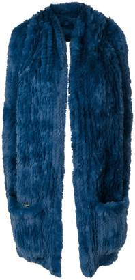 Yves Salomon rabbit fur backless gilet