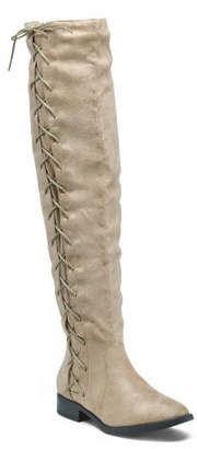 High Shaft Side Lace Up Boots