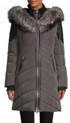 Cortina Fox Fur-Trimmed Down Jacket