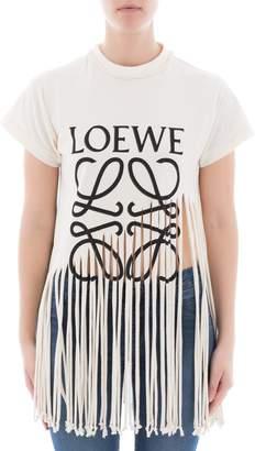 Loewe White Cotton Sweatshirt