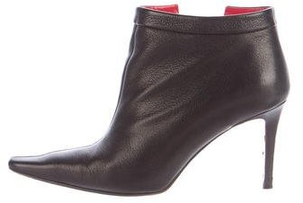 Christian Louboutin  Christian Louboutin Vented Leather Ankle Boots