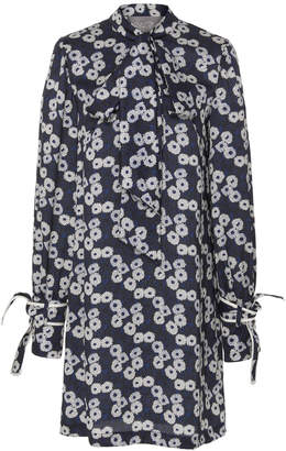 Lela Rose Tie Neck Tunic Dress