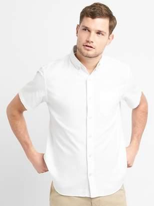 Gap Oxford Short Sleeve Shirt in Stretch