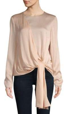 Lanvin Tie-Accented Long-Sleeve Top