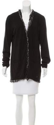 Burberry Ruffled-Trim Long Sleeve Cardigans