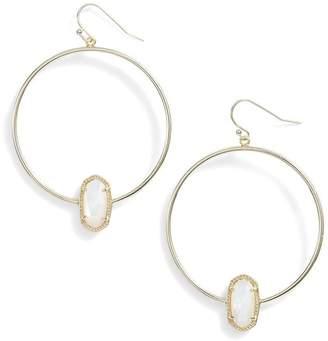 Kendra Scott KendraScott Signature Elora Frontal Hoop Ivory Mop/Gold Earrings