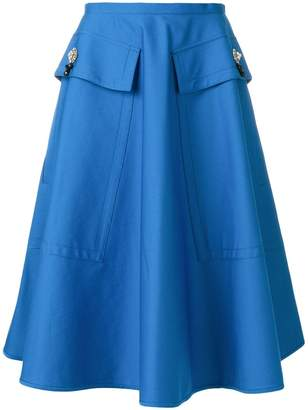 No.21 flared midi skirt