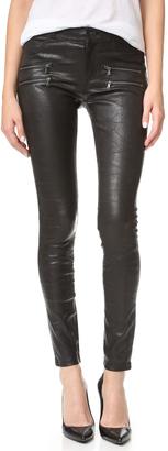 PAIGE Edgemont Leather Pants $995 thestylecure.com