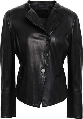 Giorgio Armani Button-detailed Leather Jacket
