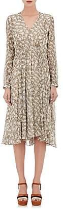 Derek Lam Women's Bei Python-Print Silk Midi-Dress - Natural