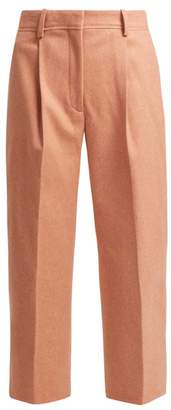 Acne Studios Tapered Wool Blend Trousers - Womens - Light Pink
