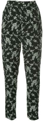 Co floral print tapered trousers