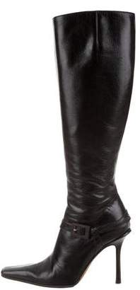 Jimmy Choo Square-Toe High-Heel Boots