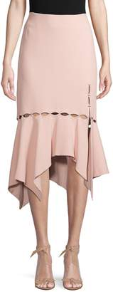 Jonathan Simkhai Asymmetrical-Hem Cut-Out Skirt