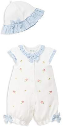 Little Me Girls' Spring Flower Romper & Hat Set - Baby