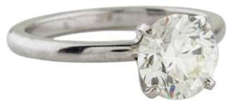 Nobrand Platinum 1.83ct Diamond Solitaire Engagement Ring Sz 6.75